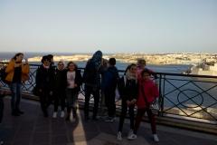 La Valletta: Giardini di Barrakka. Sullo sfondo, Vittoriosa (a sin.) e Senglea (a destra)